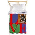 Personalize Love Stamps for Pets! Twin Duvet
