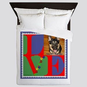 Personalize Love Stamps for Pets! Queen Duvet