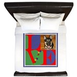 Personalize Love Stamps for Pets! King Duvet