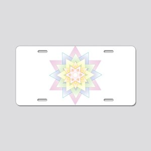 Esther Star Aluminum License Plate