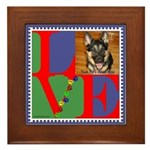 Personalize Love Stamps for Pets! Framed Tile