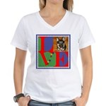 Personalize Love Stamps for Pets! Women's V-Neck T