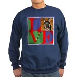 Personalize Love Stamps for Pets! Sweatshirt (dark