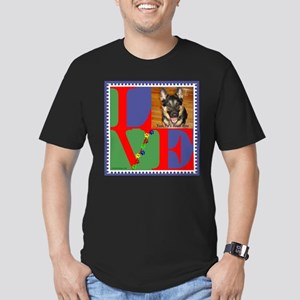 Personalize Love Stamps for Pets! Men's Fitted T-S