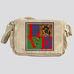 Personalize Love Stamps for Pets! Messenger Bag