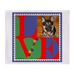 Personalize Love Stamps for Pets! Throw Blanket