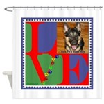 Personalize Love Stamps for Pets! Shower Curtain