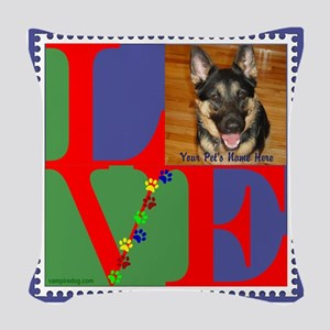 Personalize Love Stamps for Pets! Woven Throw Pill