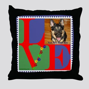 Personalize Love Stamps for Pets! Throw Pillow