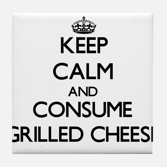 Keep calm and consume Grilled Cheese Tile Coaster