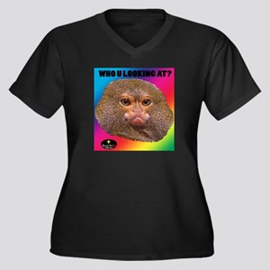 MONKEY - WHO U LOOKING AT? (Rainbow) Plus Size T-S