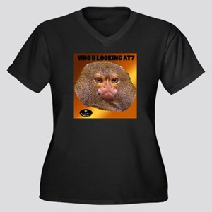 MONKEY - WHO U LOOKING AT? (Golden) Plus Size T-Sh