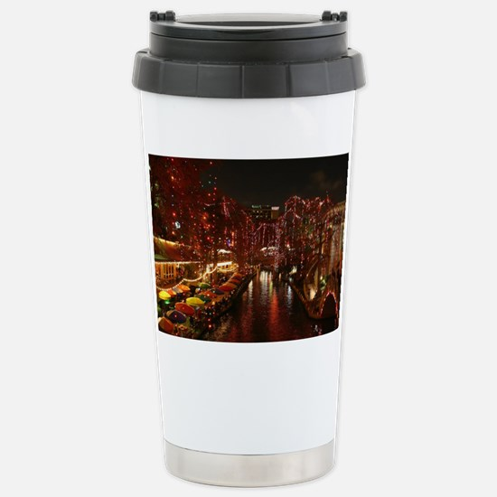 Christmas Lights on San Stainless Steel Travel Mug