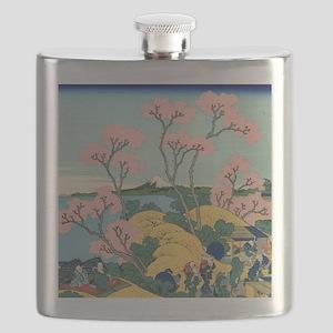 VINTAGE JAPANESE LANDSCAPE PRINT Flask