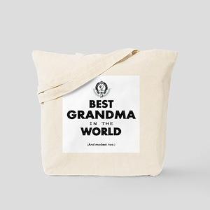 The Best in the World Best Grandma Tote Bag