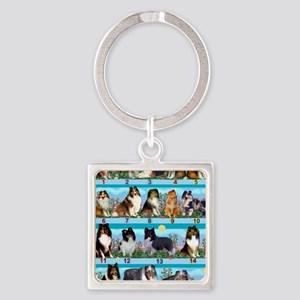 Sheltie Lovers Gifts Square Keychain