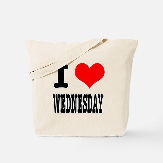 I Heart (Love) Wednesday Tote Bag