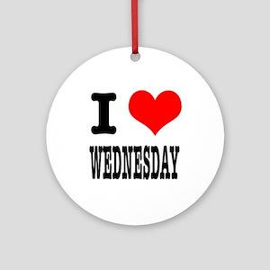 I Heart (Love) Wednesday Ornament (Round)