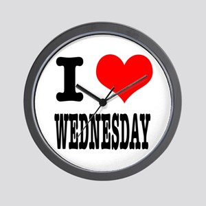 I Heart (Love) Wednesday Wall Clock
