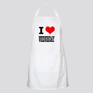 I Heart (Love) Wednesday BBQ Apron