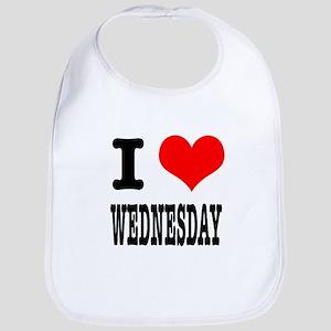 I Heart (Love) Wednesday Bib