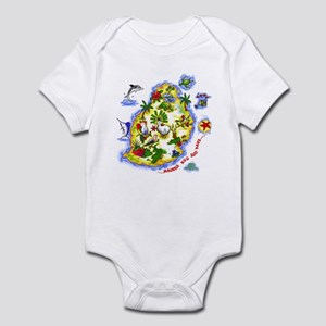 tropical island Infant Bodysuit