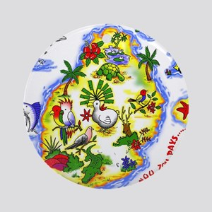 tropical island Ornament (Round)