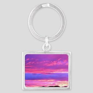 Santa Monica Sunset Landscape Keychain