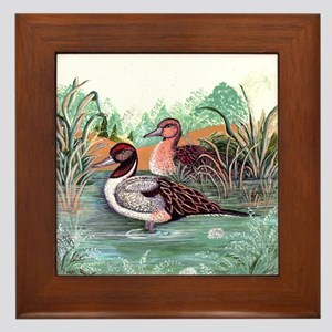 Pond Ducks Framed Tile