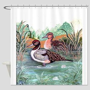 Pond Ducks Shower Curtain