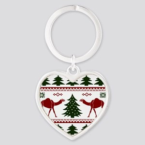 Hump Day Inspired Camel Ugly Sweate Heart Keychain
