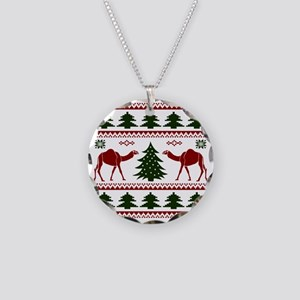 Hump Day Inspired Camel Ugly Necklace Circle Charm