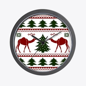 Hump Day Inspired Camel Ugly Sweater Wall Clock