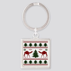 Hump Day Inspired Camel Ugly Sweat Square Keychain