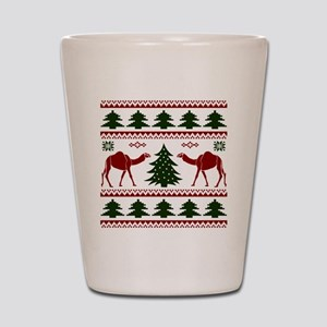 Hump Day Inspired Camel Ugly Sweater Shot Glass
