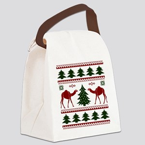 Hump Day Inspired Camel Ugly Swea Canvas Lunch Bag