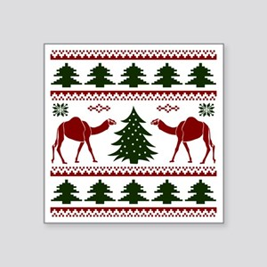 "Hump Day Inspired Camel Ugl Square Sticker 3"" x 3"""