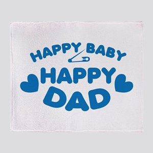 Happy Baby Happy DAD! with safety pin Throw Blanke