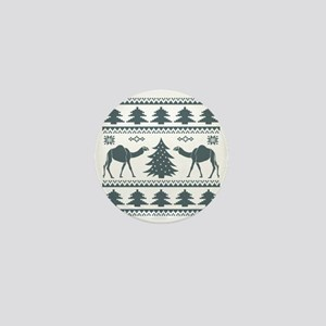 Tribal Camel Ugly Sweater Mini Button