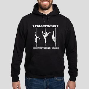 Pole Fitness Beauty Strength Pride White Hoodie