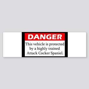 attackdog_cockerspaniel Bumper Sticker