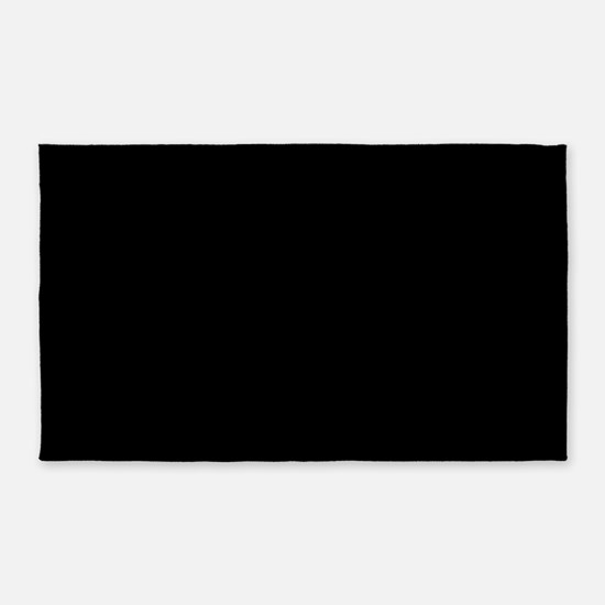JUST COLORS: BLACK 3'x5' Area Rug