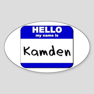 hello my name is kamden Oval Sticker
