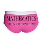 Mathematics Helps You Count Things Women's Boy Bri