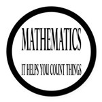 Mathematics Helps You Count Things Round Car Magne