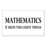 Mathematics Helps You Count Things Sticker (Rectan