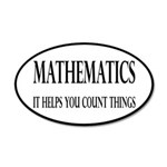 Mathematics Helps You Count Things 20x12 Oval Wall