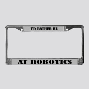 Robotics Gift License Plate Frame