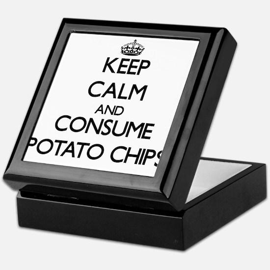 Keep calm and consume Potato Chips Keepsake Box