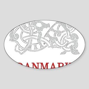 DANMARK Oval Sticker